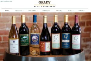 Grady Family Vineyards Website